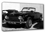 Triumph TR4A (Triumph Motor Company) Classic Sports Car Black and White Canvas. Sizes: A3/A2/A1 (003487)